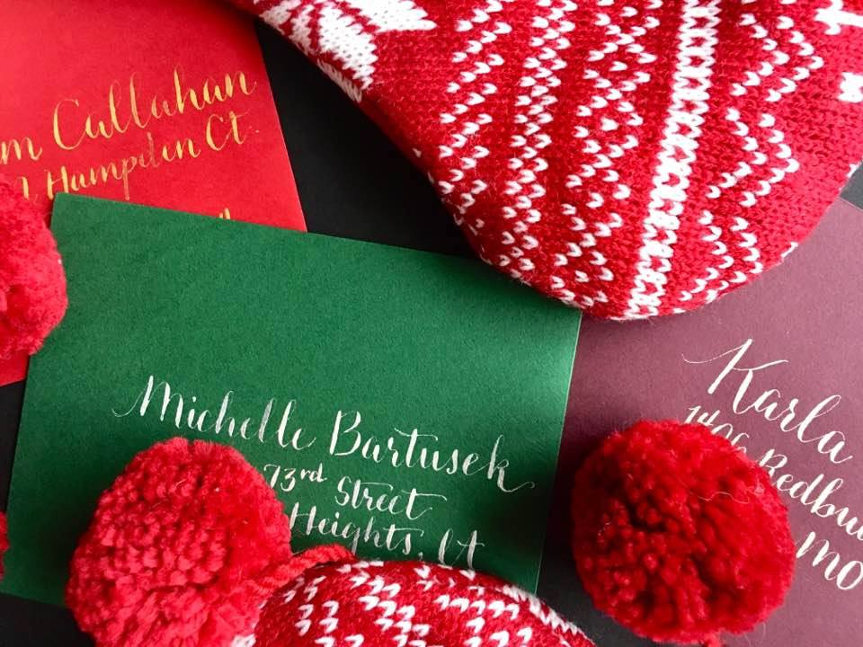 Saturday, December 8th: Holiday Calligraphy Cards, Intermediate Level